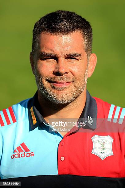 Nick Easter of Harlequins poses for a portrait during the Harlequins squad photo call for the 20162017 Aviva Premiership Rugby season at Twickenham...