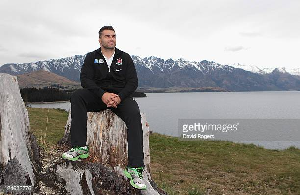 Nick Easter the England forward poses on September 11 2011 in Queenstown New Zealand