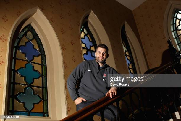 Nick Easter the England number 8 poses after the media conference held at the MacDonald Randolph Hotel on March 1 2011 in Oxford England