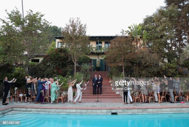 Nick Ede and Andrew Naylor celebrate their wedding in Los Angeles at the private residence of Jonas Tahlin CEO of Absolut Elyx on October 14 2017 in...