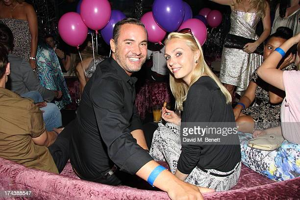 Nick Ede and Camilla Dallerup attend an after party at the Freedom Bar Wardour street following the press night performance of 'Wag The Musical' on...