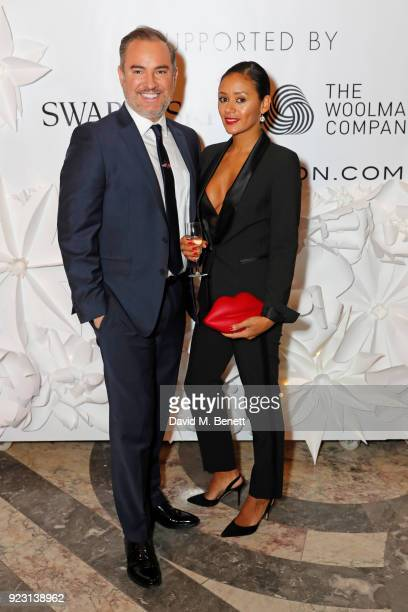 Nick Ede and Emma Mainoo attend the VIP preview of the Commonwealth Fashion Exchange exhibition at the High Commission of Australia on February 22...
