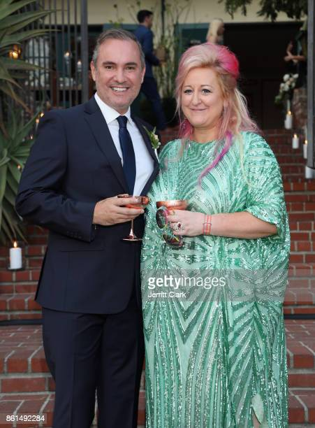 Nick Ede and Global Director of Trade Marketing at Absolut Elyx Miranda Dickson celebrate the wedding of Nick Ede and Andrew Naylor in Los Angeles at...