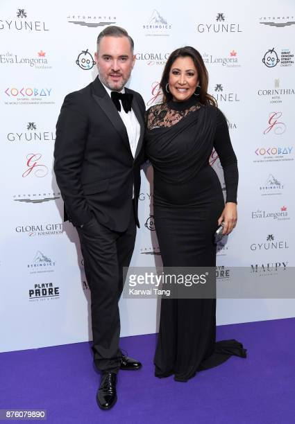 Nick Ede and Maria Bravo attend The Global Gift gala held at the Corinthia Hotel on November 18 2017 in London England