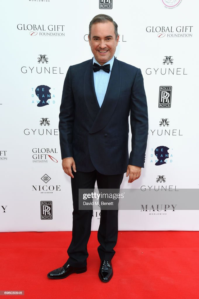 Nick Ede attends the Global Gift Gala for The Diana Award, hosted by Earl Spencer at Althorp House on June 14, 2017 in Northampton, England.