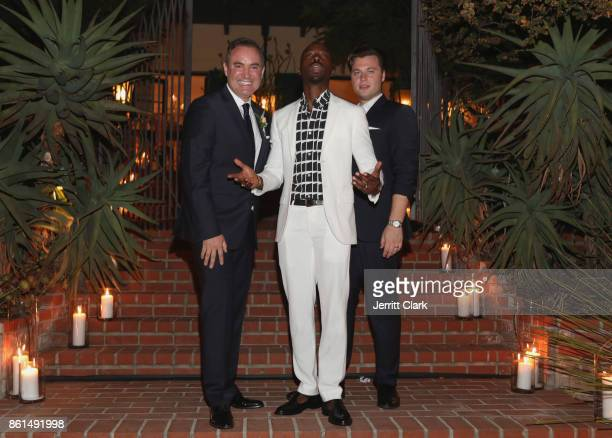 Nick Ede Azuka Ononye and Andrew Naylor celebrate their wedding in Los Angeles at the private residence of Jonas Tahlin CEO of Absolut Elyx on...