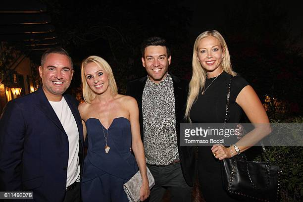 Nick Ede Camilla Dallerup Kevin Sacre and Liz Fuller attend a private dinner at the home of Jonas Tahlin CEO Absolut Elyx on September 29 2016 in...