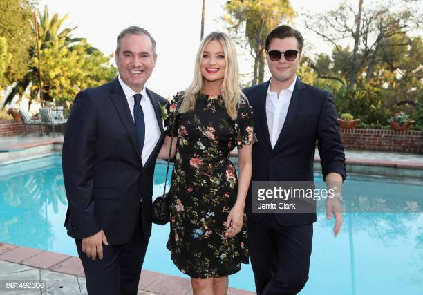 Nick Ede Laura Whitmore and Andrew Naylor celebrate the wedding of Nick Ede and Andrew Naylor in Los Angeles at the private residence of Jonas Tahlin...