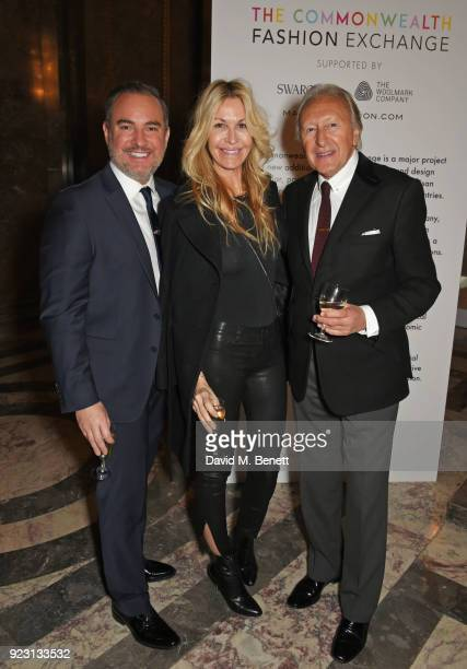 Nick Ede Melissa Odabash and Harold Tillman attend the VIP preview of the Commonwealth Fashion Exchange exhibition at the High Commission of...