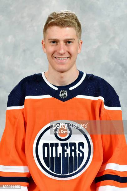 Nick Ellis of the Edmonton Oilers poses for his official headshot for the 20172018 season on September 14 2017 at Rogers Place in Edmonton Alberta...