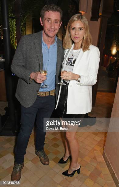 Nick English and Nicki Shields attend Orlando Bloom's birthday party with ABB FIA Formula E Championship at Hotel Amanjena on January 12 2018 in...