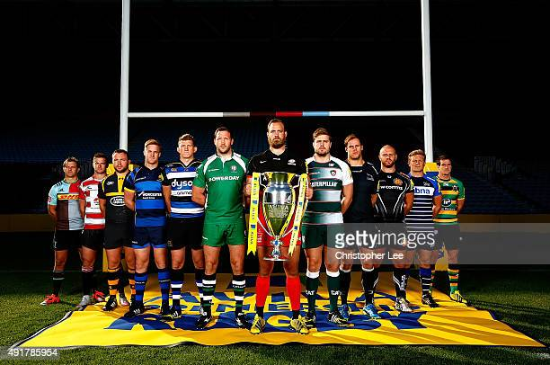 Nick Evans of Harlequins Henry Trinder of Gloucester Rugby Matt Mullan of Wasps GJ Van Veltze of Worcester Warriors Stuart Hooper of Bath Rugby...