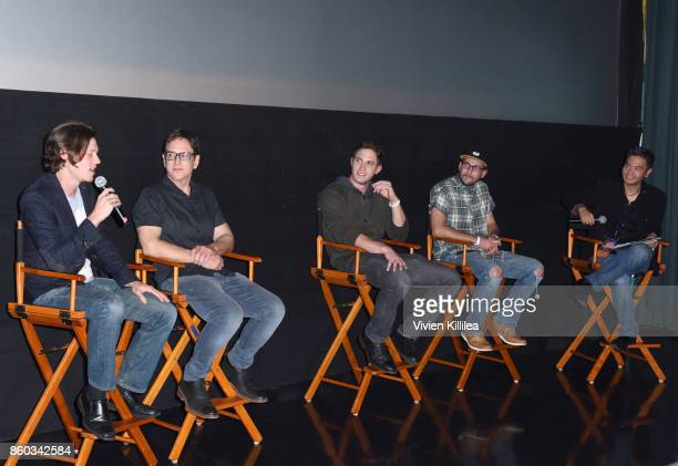 Nick Eversman Robert Ulrich Blake Jenner Mike Jenner and Paul Kim speak at the San Diego International Film Festival 2017 on October 6 2017 in San...