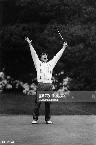 Nick Faldo Celebrates His Win Of The 1989 Masters Tournament