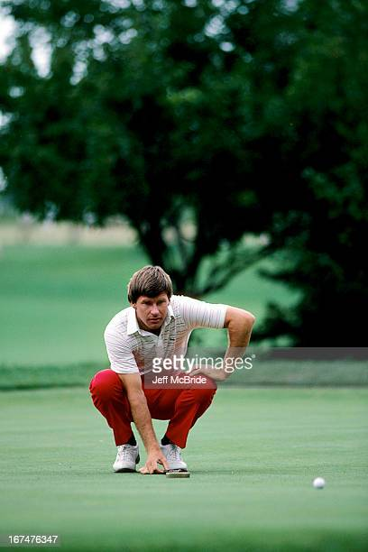 Nick Faldo during the 67th PGA Championship held at Cherry Hills Country Club in Englewood Colorado August 811 1985