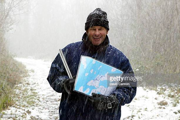Nick Faldo of England during his site visit to his proposed new course project at Castle Hume Golf Club on Lough Erne on February 27 2004 in...