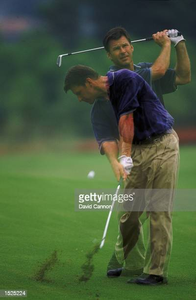 Nick Faldo of England in action during the Johnnie Walker Super Tour event at the Emeralda Golf and Country Club in Jakarta Indonesia Mandatory...