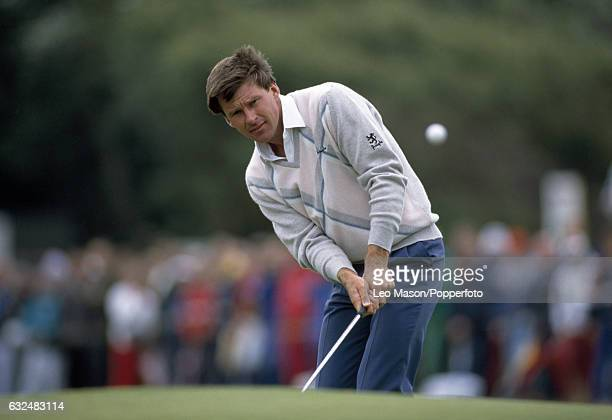 Nick Faldo of Great Britain in action during the British Open Championship at Royal Lytham and St Annes Golf Club circa July 1988