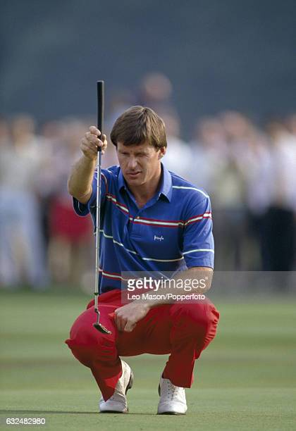 Nick Faldo of Great Britain in action during the European Cup at Sunningdale circa 1988