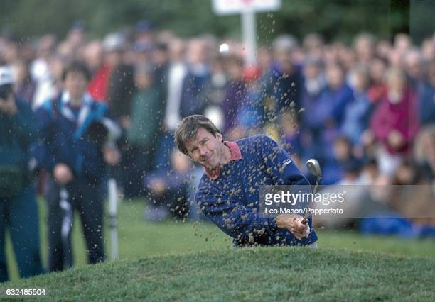 Nick Faldo of Great Britain in action during the PGA Championship at Wentworth Golf Club circa 1996