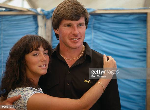 Nick Faldo of Great Britain with his wife Melanie after the British Open Golf Championship at Royal Birkdale in Southport July 1983