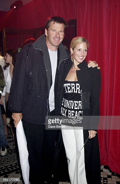 Nick Faldo With His Wife Party For The Spiderman Movie Premiere At The In Out Club In London