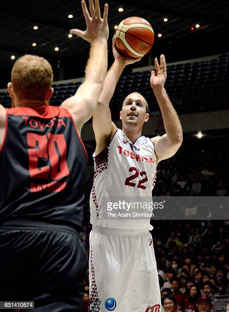 Nick Fazekas of Kawasaki Brave Thunders in action during the 92nd Emperor's Cup All Japan Men's Basketball Championship semi final match between...