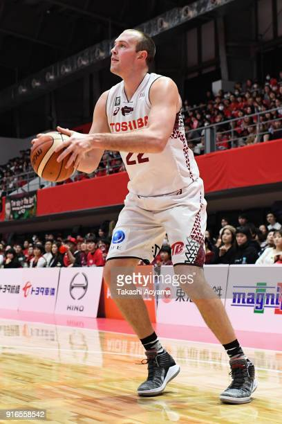 Nick Fazekas of the Kawasaki Brave Thunders in action during the BLeague match between Alverk Tokyo and Kawasaki Brave Thunders at the Arena...