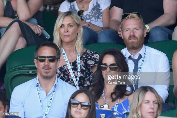 Nick Feeney Jenni Falconer Andrea McLean and James Midgley attend day six of the Wimbledon Tennis Championships at the All England Lawn Tennis and...