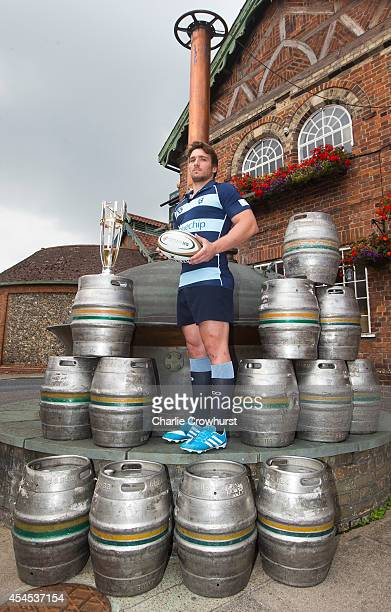 Nick FentonWells of Bedford Blues poses for a photo during the 2014/15 Greene King IPA Championship Captains photocall at Greene King IPA brewery on...
