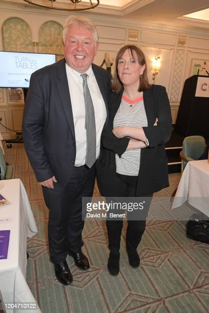 Nick Ferrari and Jess Phillips attend Turn The Tables 2020 hosted by Tania Bryer and James Landale in aid of Cancer Research UK at Fortnum Mason on...