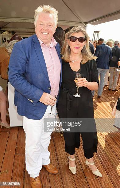 Nick Ferrari and Sandra Phylis Conolly attend day one of the Audi Polo Challenge at Coworth Park on May 28 2016 in London England