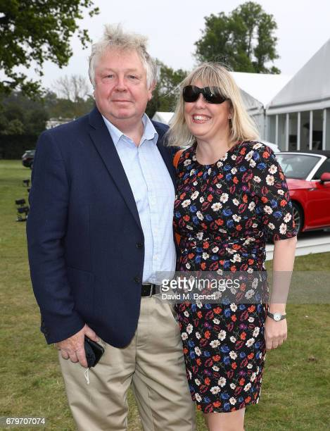 Nick Ferrari and Sandra Phylis Conolly attend the Audi Polo Challenge at Coworth Park on May 6 2017 in Ascot United Kingdom
