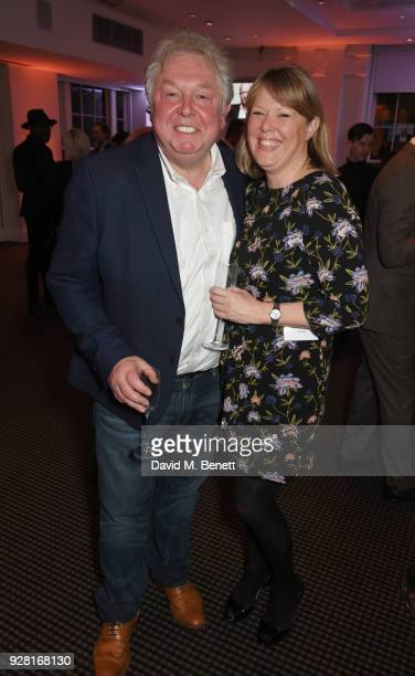 Nick Ferrari and Sandra Phylis Conolly attend the launch of InterTalent Rights Group at BAFTA on March 6 2018 in London England
