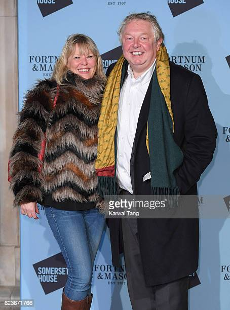 Nick Ferrari and Sandra Phylis Conolly attend the launch party for Skate at Somerset House with Fortnum Mason at Somerset House on November 16 2016...