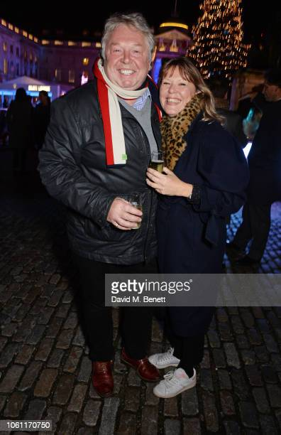 Nick Ferrari and Sandra Phylis Conolly attend the opening party of Skate at Somerset House with Fortnum Mason on November 13 2018 in London England...