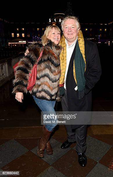 Nick Ferrari and Sandra Phylis Conolly attend the opening party of Skate at Somerset House with Fortnum Mason on November 16 2016 in London England...