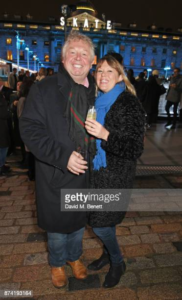 Nick Ferrari and Sandra Phylis Conolly attend the opening party of Skate at Somerset House with Fortnum Mason on November 14 2017 in London England...