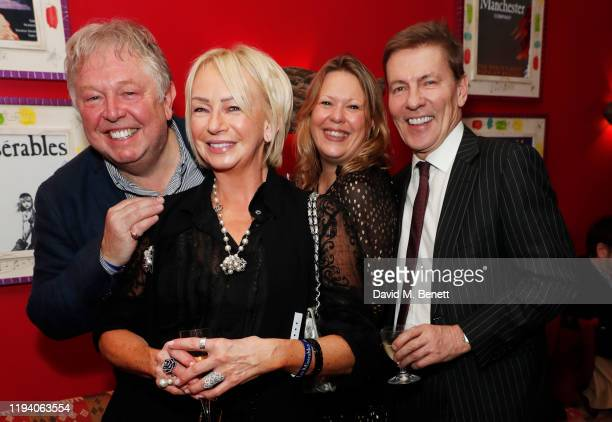 """Nick Ferrari, Judy Craymer, Sandra Phylis Conolly and Andrew Pierce attend the after party celebrating the re-opening of """"Les Miserables"""" in the West..."""
