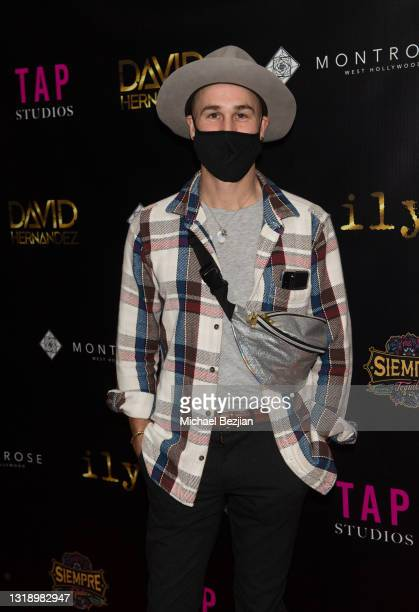 """Nick Ferrera attends The Artists Project visits """"ily."""" Video Music Premiere by David Hernandez on May 19, 2021 in Los Angeles, California."""