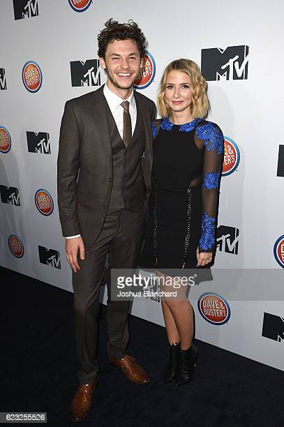 Nick Fink and Eliza Bennett arrive at MTV's 'Teen Wolf' and 'Sweet/Vicious' Premiere Event on November 14 2016 in Los Angeles California