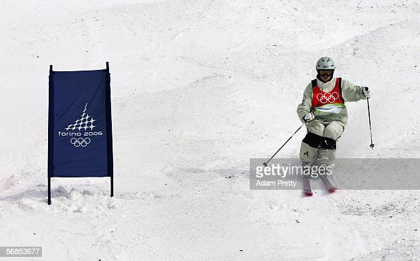 Nick Fisher of Australia competes in the Mens Freestyle Skiing Moguls Qualifying on Day 5 of the 2006 Turin Winter Olympic Games on February 15 2006...