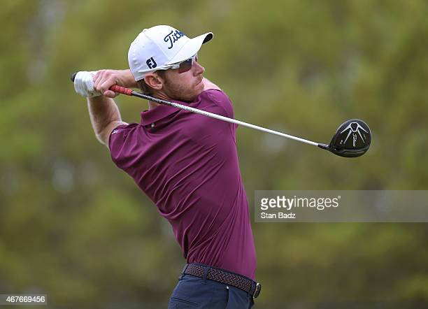 Nick Flanagan of Australia hits a drive on the ninth hole during the first round of the Webcom Tour Chitimacha Louisiana Open presented by NACHER at...
