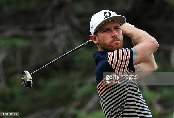 Nick Flanagan of Australia hits a tee shot on the 17th hole during the first round of the Utah Championship Presented by Utah Sports Commission at...