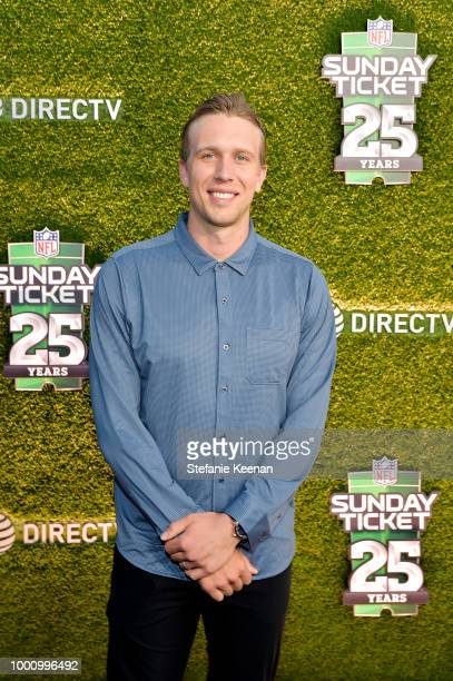Nick Foles attends DIRECTV CELEBRATES 25th Season of NFL SUNDAY TICKET at Nomad Hotel Los Angeles on July 17 2018 in Los Angeles California