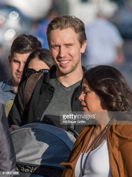 Nick Foles is seen at 'Jimmy Kimmel Live' on February 15 2018 in Los Angeles California