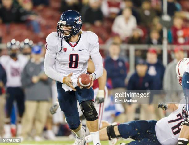 Nick Foles of the University of Arizona Wildcats plays in a PAC12 NCAA football game against the Stanford Cardinal on November 6 2010 at Stanford...