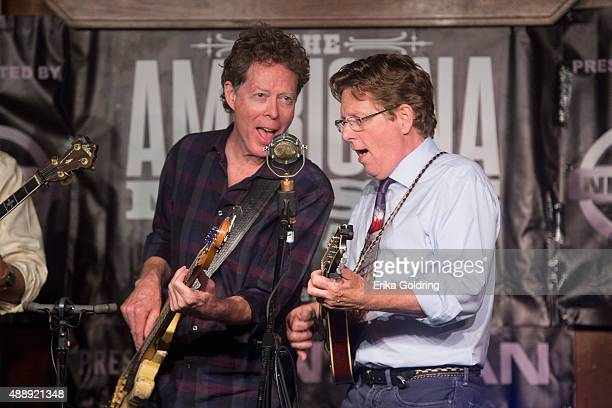 Nick Forster and Tim O'Brien of Hot Rize perform at the Station Inn on September 17 2015 in Nashville Tennessee