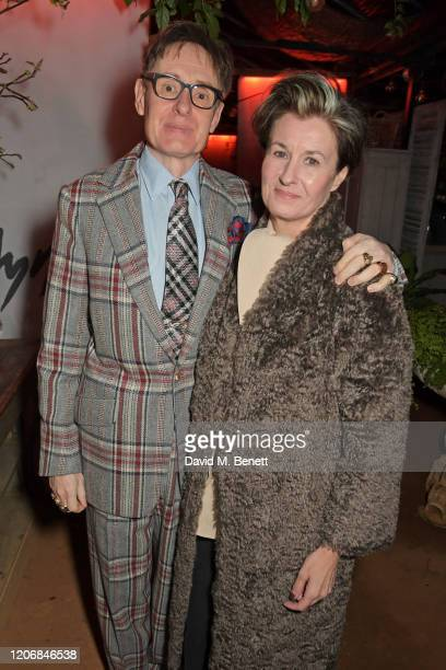 Nick Foulkes and Alex Foulkes attend the launch of new positive media platform 'whynow' at Petersham Nurseries on March 12 2020 in London England