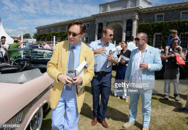 Nick Foulkes Sir Chris Hoy and Sir Jonathan Ive attend the Cartier Style Luxury Lunch at the Goodwood Festival of Speed on June 29 2014 in Chichester...